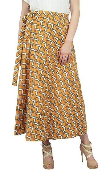 Phagun Wear Anaranjado del algodón de Dos Capas de Ikat Impreso ...
