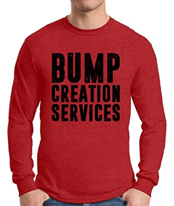 b5278181 Awkward Styles Men's Bump Creation Services Long Sleeve T Shirt Tops Father  to Be New Dad