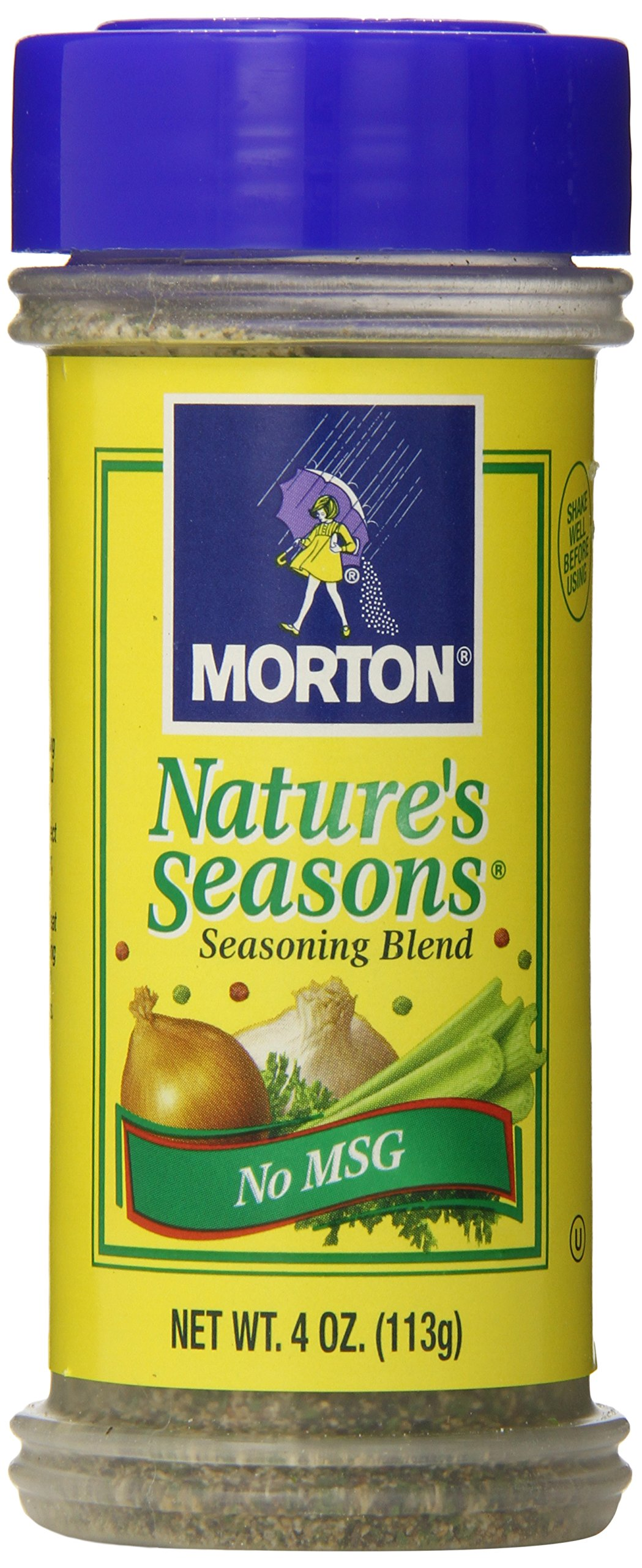 MORTON Nature's Seasons Seasoning Blend, No MSG, Great Steak Seasoning, Savory Blend of Spices, Perfect for Chicken, Fish, Vegetables, Pasta & Salads, 4 Ounce (Pack of 12) by Morton