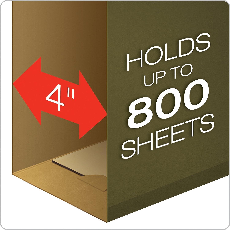 Standard Green 25 per Box 1//5 Cut 04153x4 Legal Size Pendaflex Extra Capacity Reinforced Hanging File Folders 4