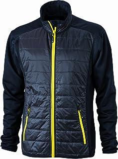 James & Nicholson Jacke Stretchfleece Men's Hybrid Jacket-Giacca Uomo JN-593