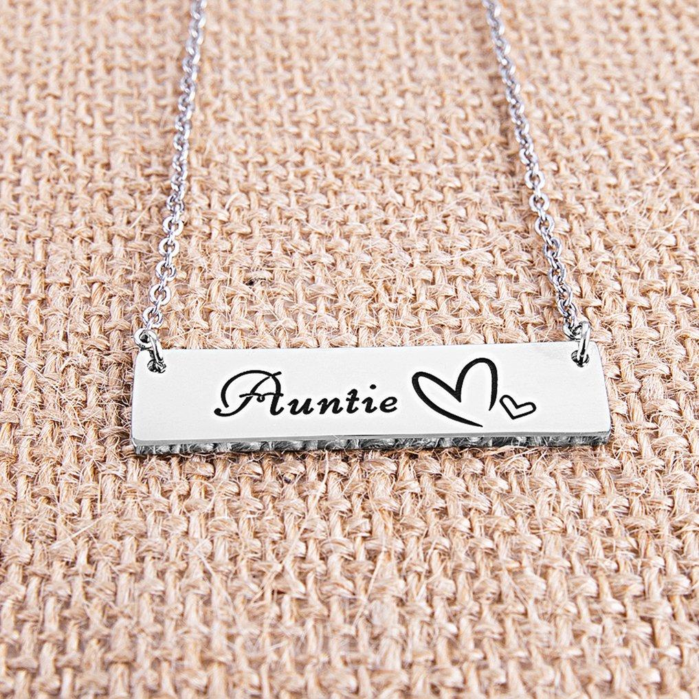 ELOI Gift Aunt Necklace Pendant Christmas Birthday Auntie From Nephew Niece Jewelry FJ016