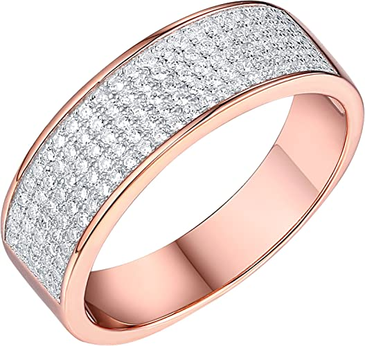 Men/'s Micro Pave Cubic Zirconia  .925 Sterling Silver Ring Sizes 8-12