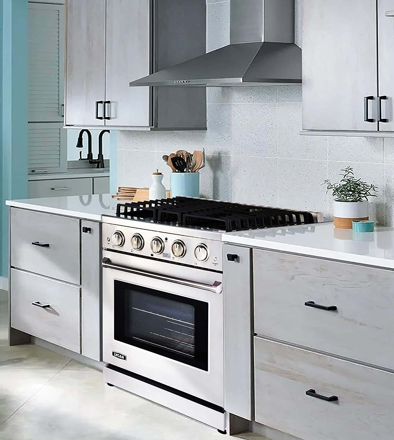 Heavy Duty Stainless Steel Stove with 4 Burners