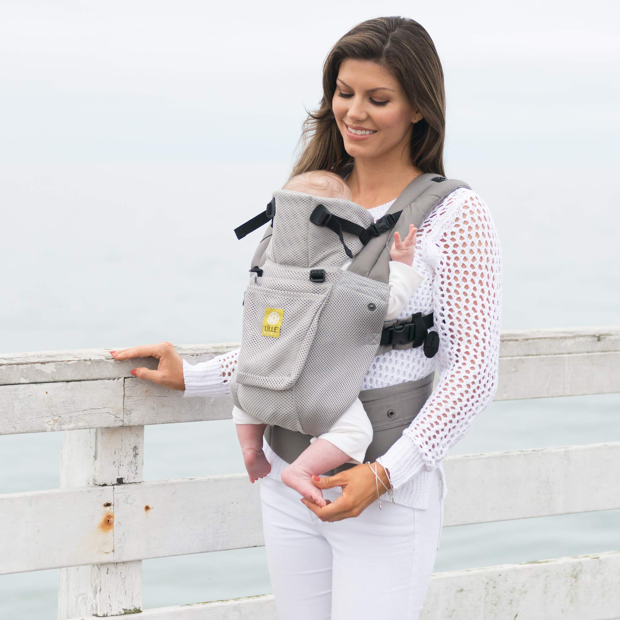 Lillebaby The Complete Airflow 360° Ergonomic Six-Position Baby & Child Carrier, Silver by LILLEbaby (Image #9)