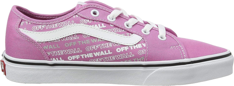 Vans Filmore Decon, Baskets Femme Rose Logo Repeat Fuchsia Pink White