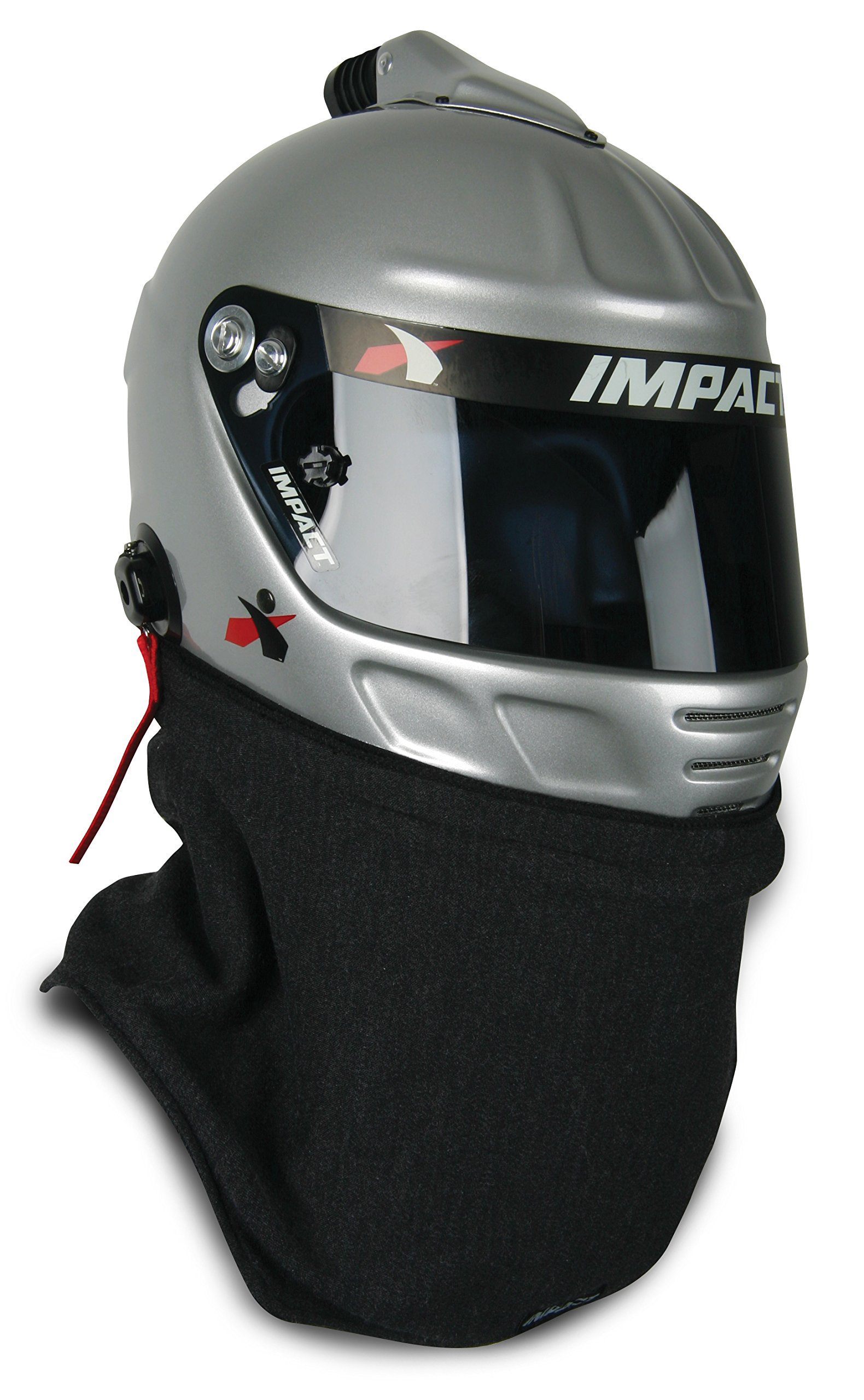 Impact Racing 10000016 Black Universal Helmet Skirt 2 Layer (SFI 3.3/5),1 Pack