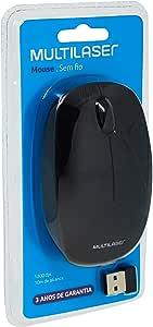 Multilaser MO251 - Mouse Sem Fio 2.4 Ghz 1200 DPI Usb, Preto