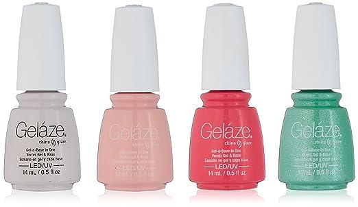 Amazon.com: China Glaze gelaze Kit de esmalte de uñas: Beauty