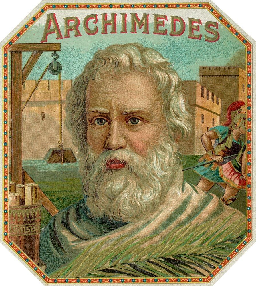 Archimedes Brand Cigar Box Label (12x18 Art Print, Wall Decor Travel Poster)