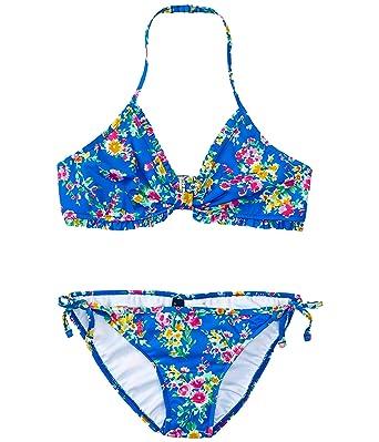 5e747c1d3f Amazon.com: Ralph Lauren Polo Girls Two Piece Floral Bikini Swimsuit ...