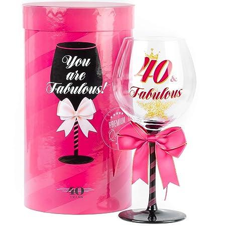 Fabuloso vaso de vino de cumpleaños para mujer | Regalo ...