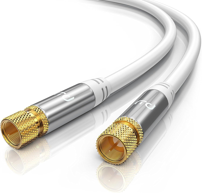 0,5m cable de antena, SAT - Premium cable HDTV, Full HD: Amazon.es: Electrónica