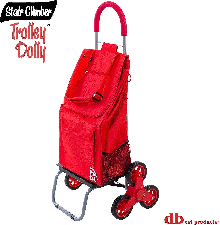 Carrello Dolly per Salire Le Scale Blu Pieghevole Shopping Cart condo Apartment