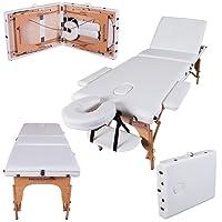 Massage Imperial® Chalfont -Table de massage Portable pro luxe - 3 Zones - Panneaux Reiki - Légère - Couleur : Ivoire Blanc
