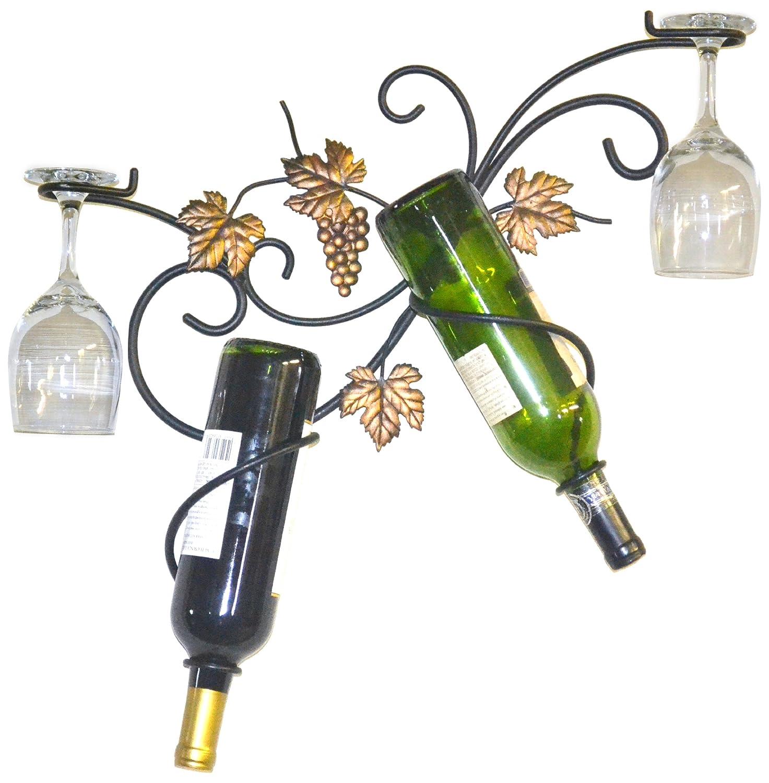 J&J Wire 2-Bottle Wall Glass Holder 4171