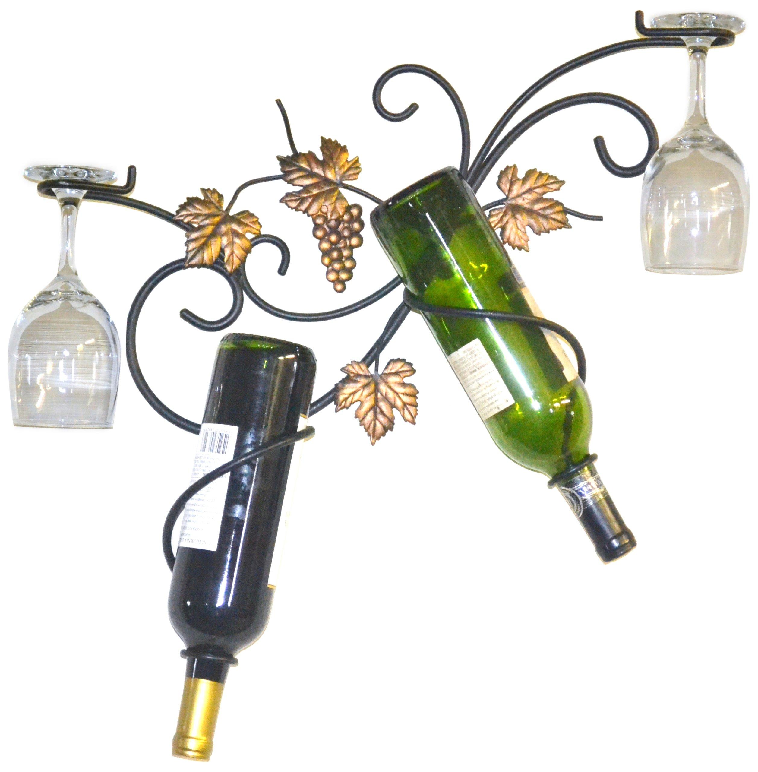 J&J Wire 2-Bottle Wall Glass Holder