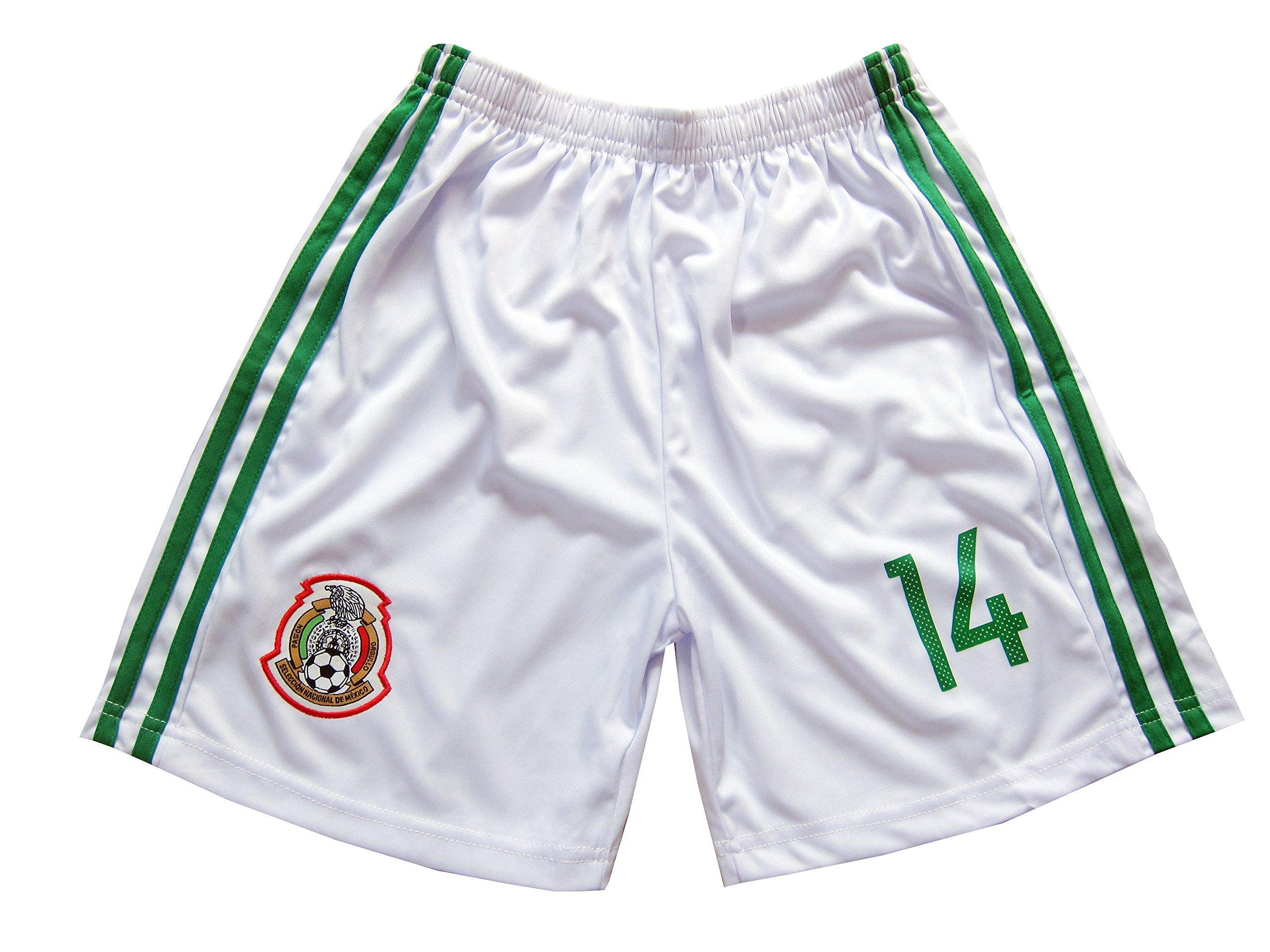 a2e41cbbda1 KID BOX 2018 FWC Mexico  14 CHICHARITO Kids Home Soccer Jersey   Shorts  Socks Set Youth Sizes (Home