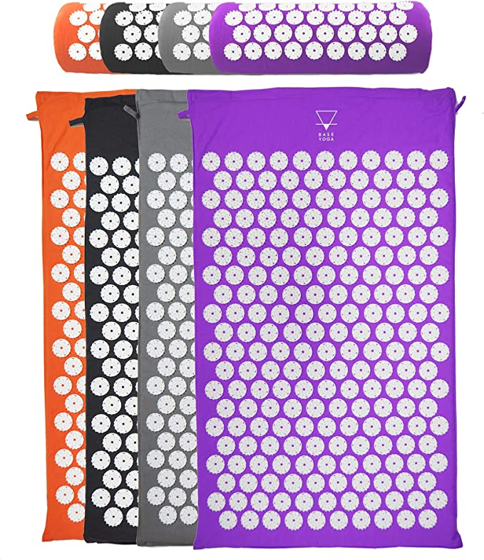 Base yoga Acupressure mat/acupuncture mat for Massage/Wellness/Relaxation and tension release (Black - mat only): Amazon.co.uk: Sports & Outdoors