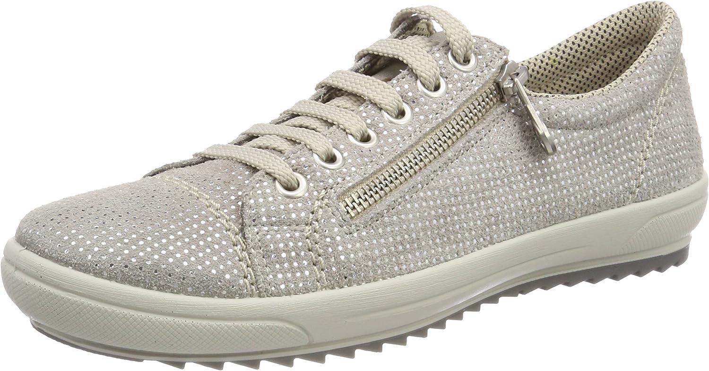 Rieker L5224 Damen Sneaker, Halbschuhe, Sportschuhe, Schnürer, Einlegesohle, mit Reißverschluss