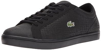 1c4a3ec224c8a1 Lacoste Men s Straightset SP 417 1 Casual Sneaker Black