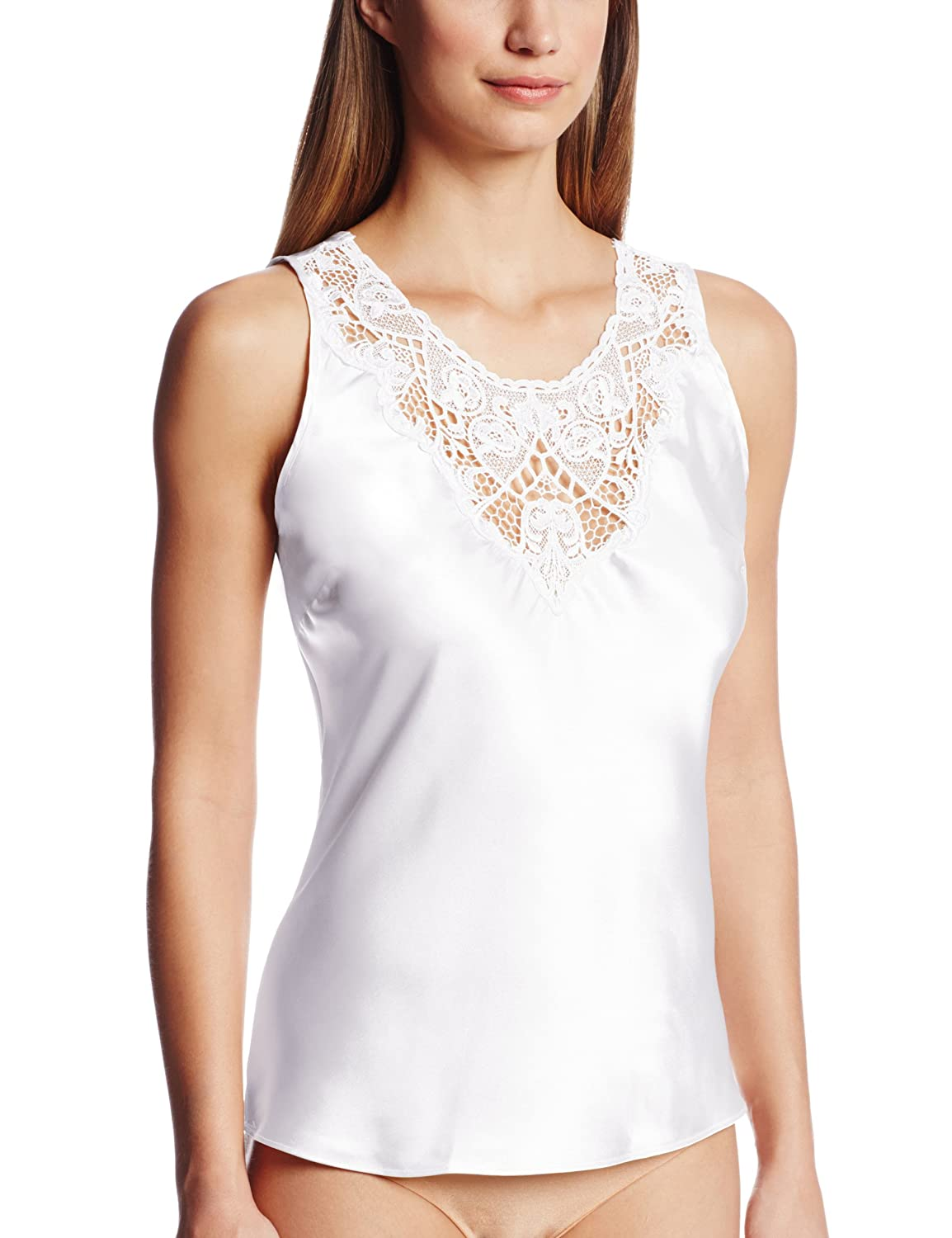 Cinema Etoile Women's Charmeuse Camisole with Medallion Lace Cinema Etoile Women' s IA 640107