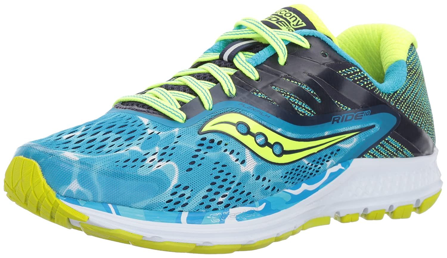 Saucony Women's Ride 10 Running-Shoes B01MZ3J9SP 6.5 W US|Blue