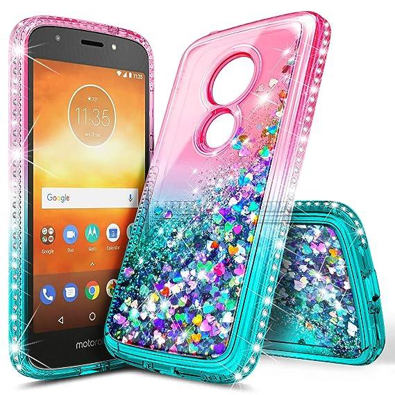 pretty nice 15b3e 330be Moto E5 Play Case, Moto E5 Cruise/Moto E5 Go (Verizon) Case, NageBee  Glitter Sparkle Bling Floating Liquid Quicksand Waterfall Women Kids Girls  Cute ...