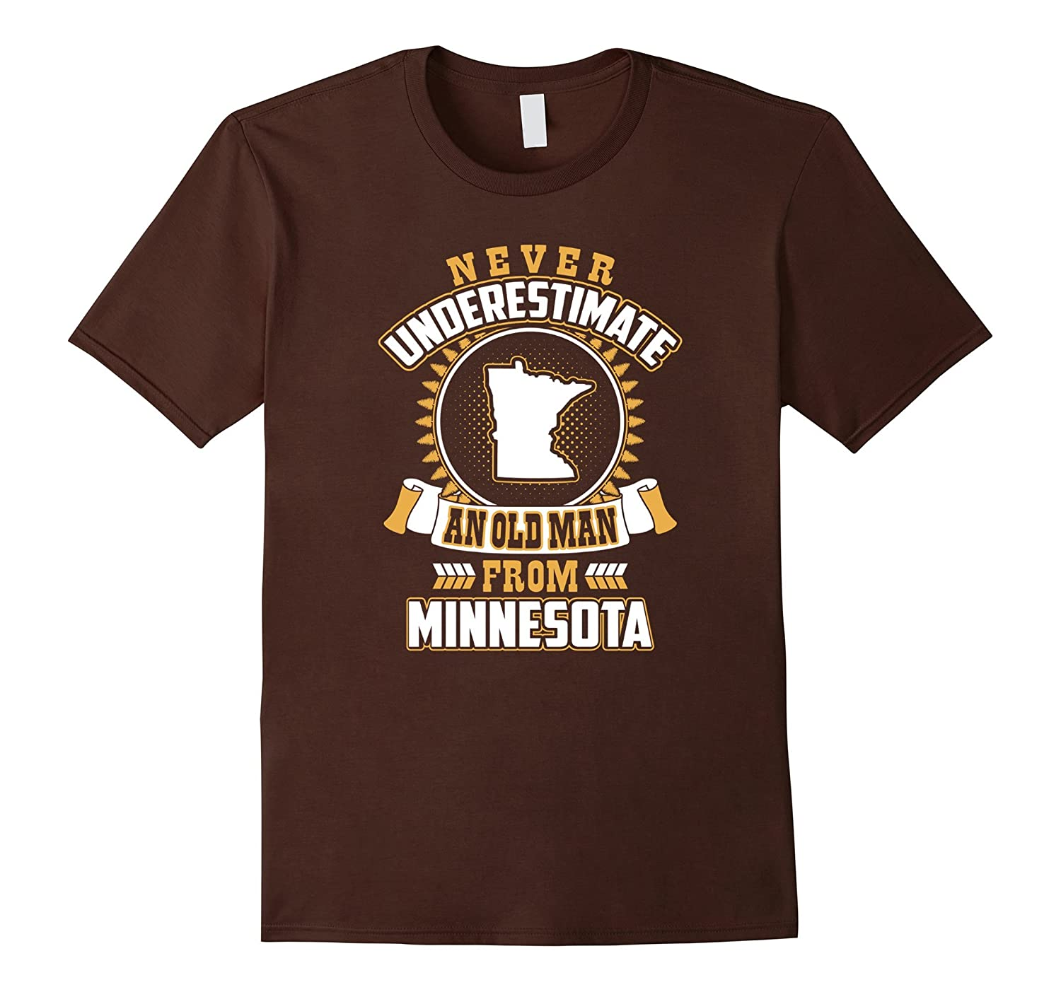 Mens Never Underestimate An Old Man From Minnesota T Shirt - 1081-BN