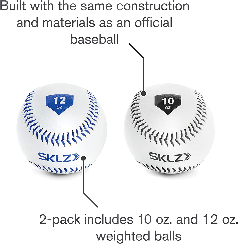 SKLZ Bk//Yw Weighted Baseballs 2Pk