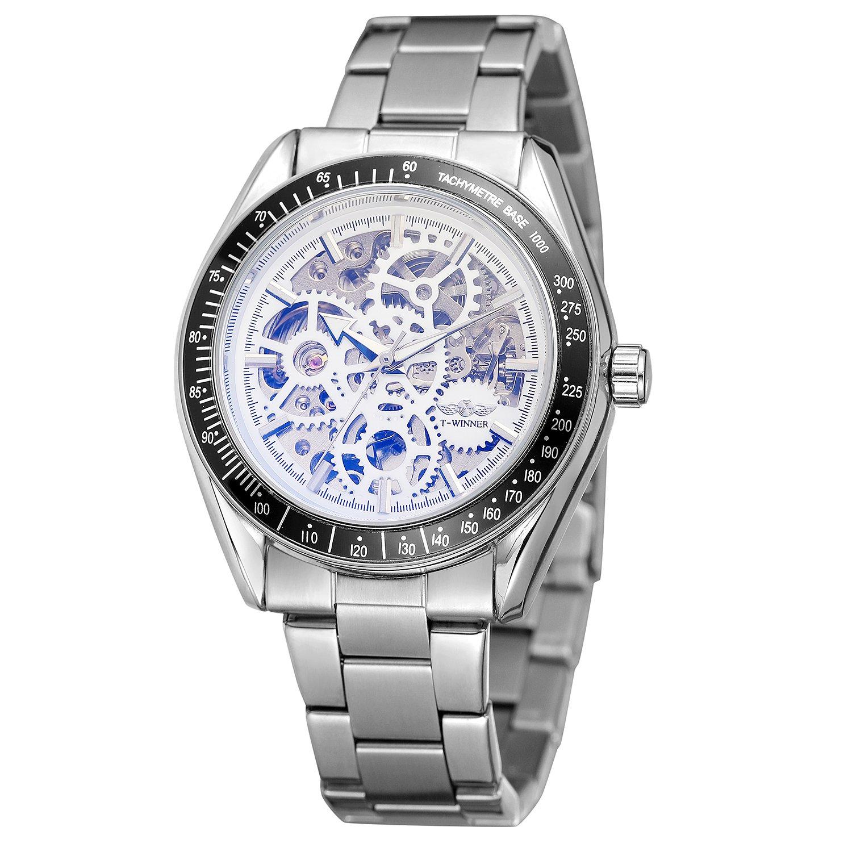 FORSINING自動自動巻きメンズ高級ブランドスタイリッシュなスケルトン時計withそそるカラーレンズ B07DBXXWPL