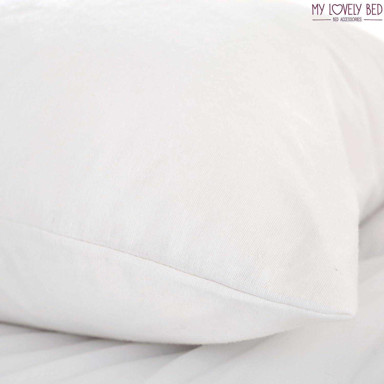 Prot/ège Oreiller 50x70 cm Molleton 100/% Coton My Lovely Bed Fermeture /à Rabat Housse doreiller Imperm/éable et Anti acarien