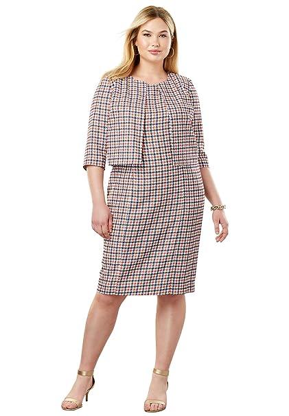 Amazon.com: Jessica London - Vestido de chamarra para mujer ...