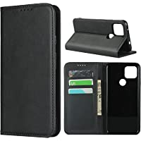 "Cavor for Google Pixel 4a 5G Case,Cowhide Pattern Leather Case Magnetic Wallet Cover with Card Slots(6.2"") -Black"