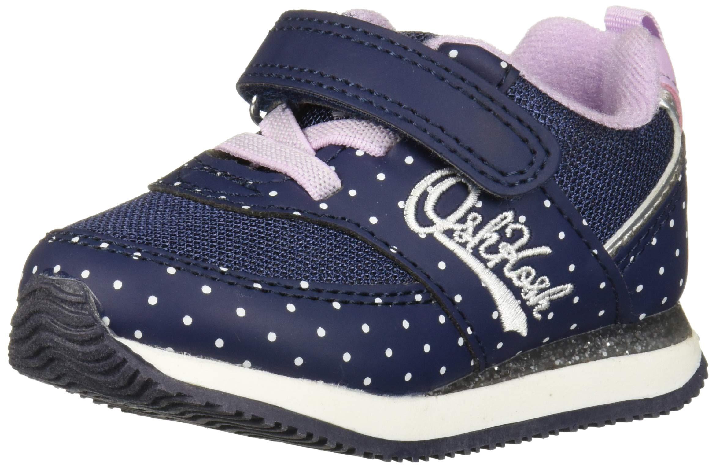 OshKosh B'Gosh Girls' LU Sneaker, Navy/Silver, 10 M US Toddler by OshKosh B'Gosh