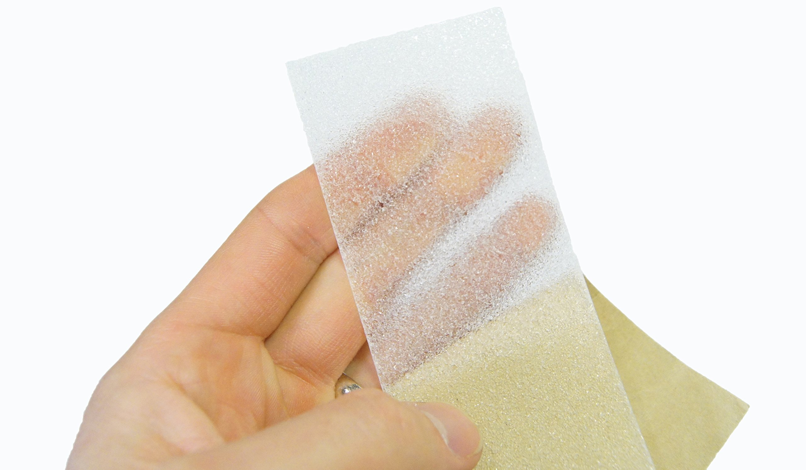 60 Foot, Non-Slip Clear, Translucent Adhesive Grit Tape and Roller, PVC-Free, 2 Inch Wide Steady Treads Installation Kit