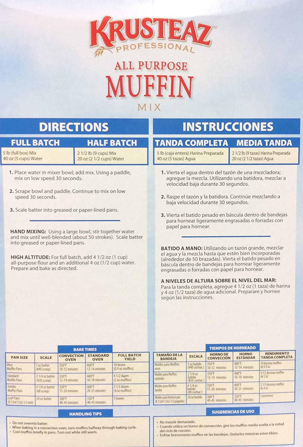 Amazon.com : Krusteaz ALL PURPOSE MUFFIN Mix 5lb. (4 Pack) : Grocery & Gourmet Food