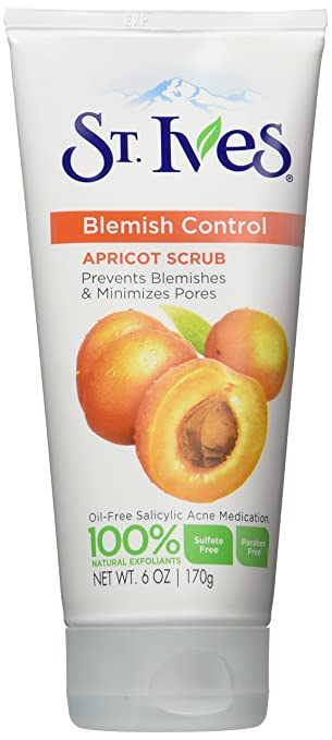 4 Pack St. Ives Blemish Control Apricot Scrub Natural Exfoliants 6.0 Oz Each Vitamin C with CoQ10 Facial Moisturizer Sunscreen 12 SPF - 4 fl. oz. by Beauty Without Cruelty (pack of 1)