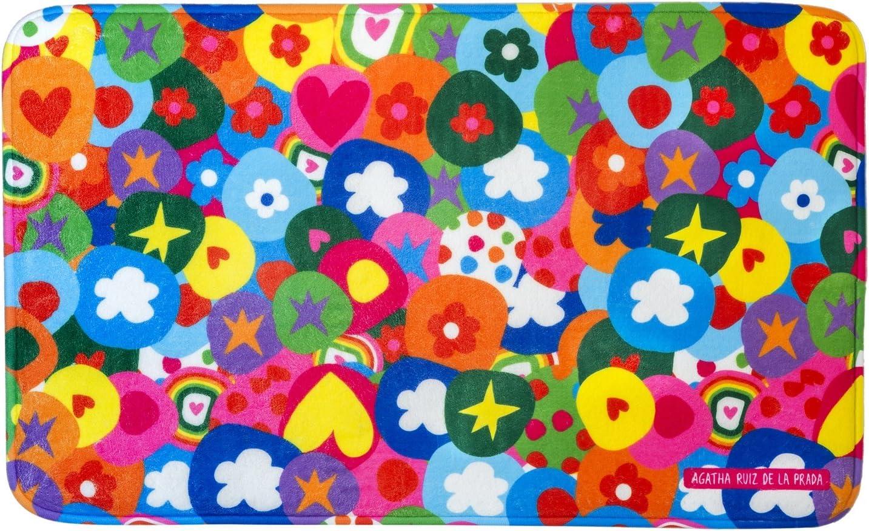 Vigar Agatha Ruiz de la Prada Alfombra para Cocina, Material: Microfibra, Multicolor, 45 x 75 cm