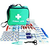 JFA 230 Piece Comprehensive First Aid Kit Bag – includes Emergency foil blanket, Wound closure strips, Saline pods, Tuff cut scissors, Bandages, Dressings and Plasters, suitable for Home, Workplace, Car and Travel