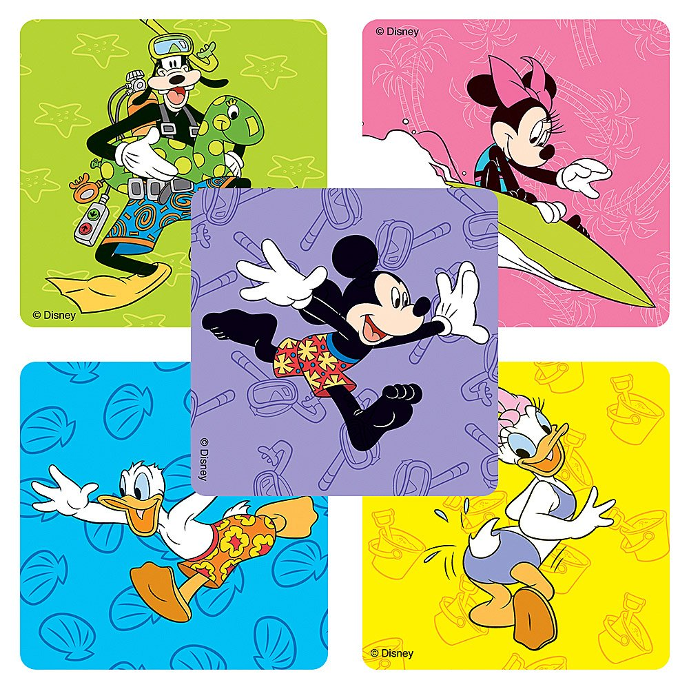 100 Per Pack SmileMakers Inc Disney Mickey And Friends Stickers Party Favors