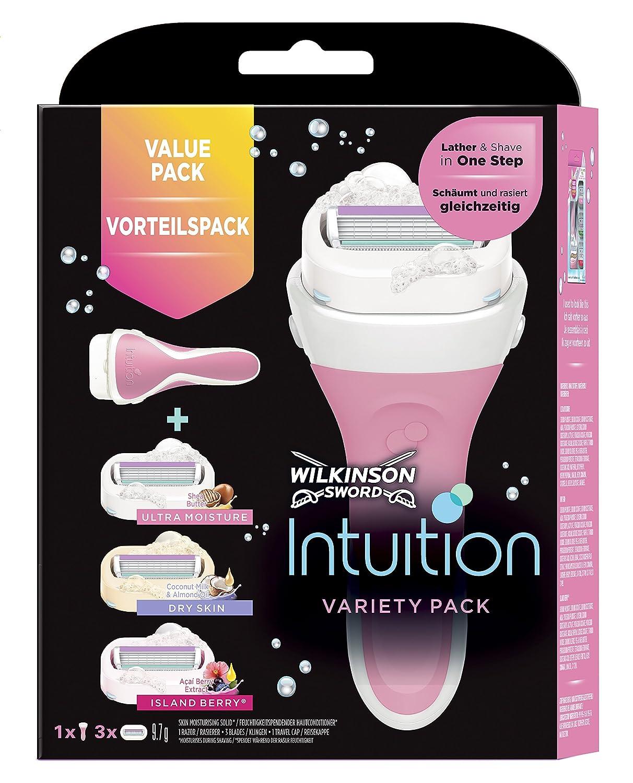 Wilkinson Sword Intuition variedad cuchillas de maquinilla de afeitar con 3cuchillas para mujer, pack de 4 Edgewell 7004066U