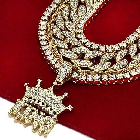 CZ Diamanten Hip Hop Bling Z/ähne Dekoration f/ür Halloween Party Geschenk Gold Z/ähne Set Gold