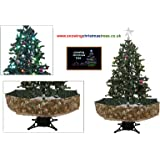 Snowing Christmas Tree with Green Umbrella Base - 2016 - 5 New Features