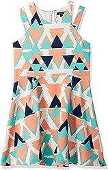 d678077b3fda My Michelle Girls  Big Geometric Print Double Strap Dress