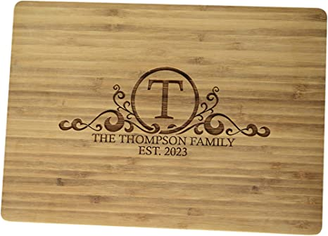 Custom Engraved Cutting Board Realtors/' Gift Housewarming Gift Large Bamboo Cutting Board