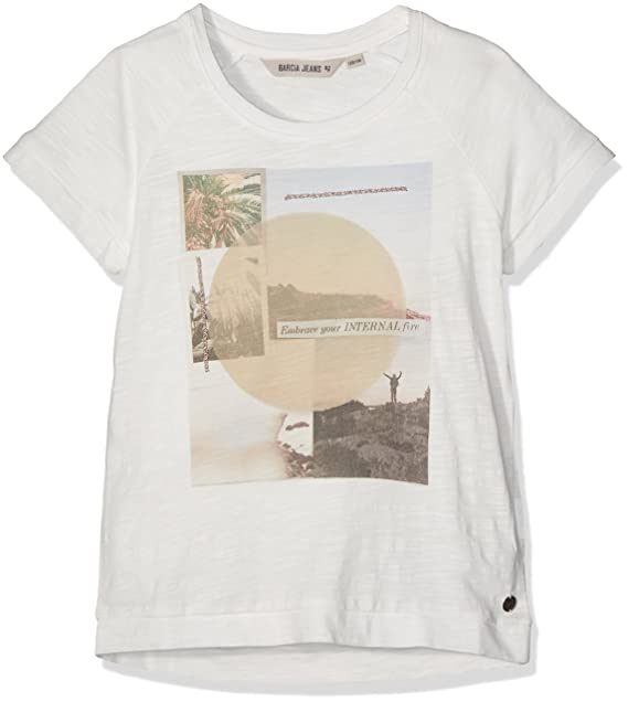 Garcia Kids D72603, Camiseta para Niñas, Blanco (Off White 53) (Talla del Fabricante: 140 cm/146 cm): Amazon.es: Ropa y accesorios