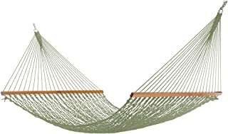 product image for Nags Head Hammocks NH14MDW Extra-Wide Meadow Duracord Rope Hammock with Free Extension Chains & Tree Hooks, Handcrafted in The USA, Accommodates 2 People, 450 LB Weight Capacity, 13 ft. x 60 in.
