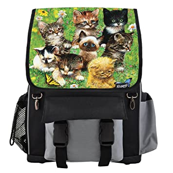 Image Unavailable. Image not available for. Color  Cute Little Kittens  School Backpack ... b36302cd987d1