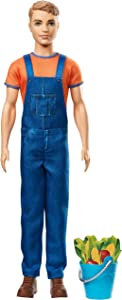 Barbie GCK73 Sweet Orchard Farm Ken Doll with Blue Pail & Accessories